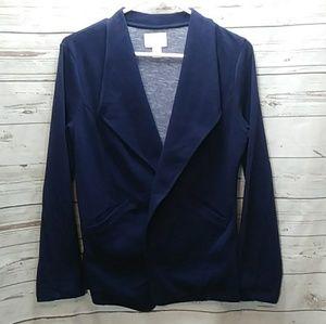 Caslon navy knit blazer sz Small petite